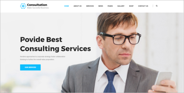 Insurance Company Website Template