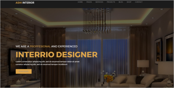 Interior Designer Website Template