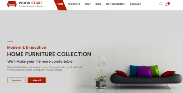 Interior Furniture Store Design Template