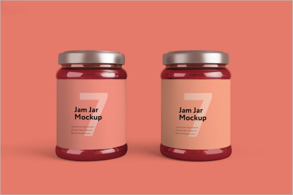 Jam Jar packing Mockup
