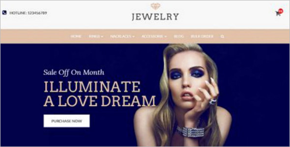 Jewelry OpenCart Mobile Friendly Template