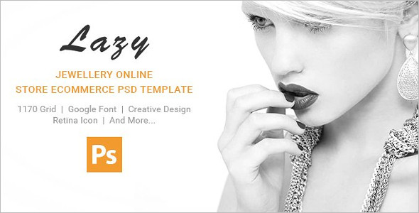 Jewelry OpenCart PSD Template