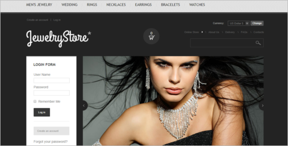 Jewelry Store VirtueMart Theme