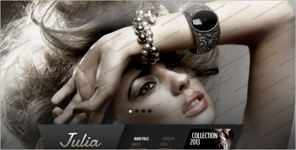 Jewelry Website Template Model