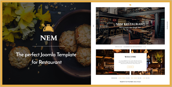 Joomla Restaurant VirtueMart Template