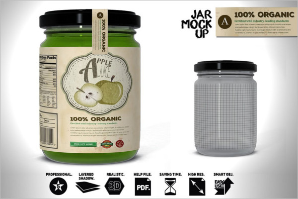 Juice Jar Packing Mockup