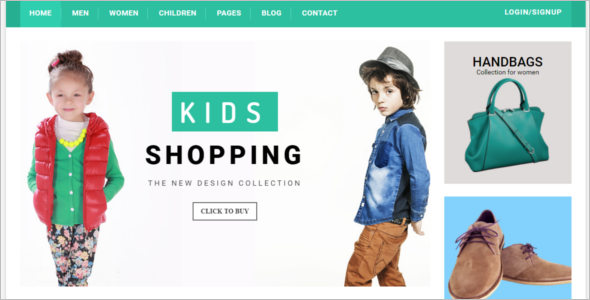 Kids Boutique Website Template