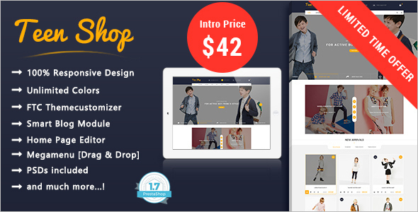 Kids Clothes Website Theme