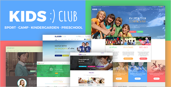 Kids Club Website Template
