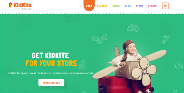 Kids Daycare Website Template
