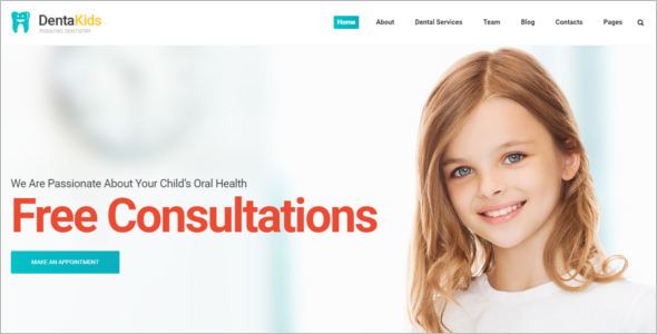 Kids Dental Website Template