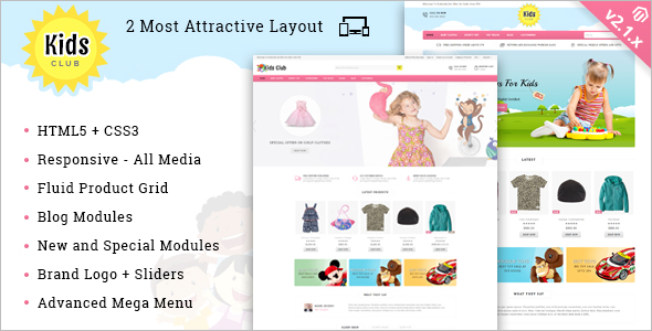 Kids Entertainment Magento Theme