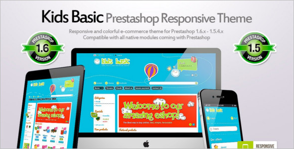 Kids PrestaShop 1.6 Theme