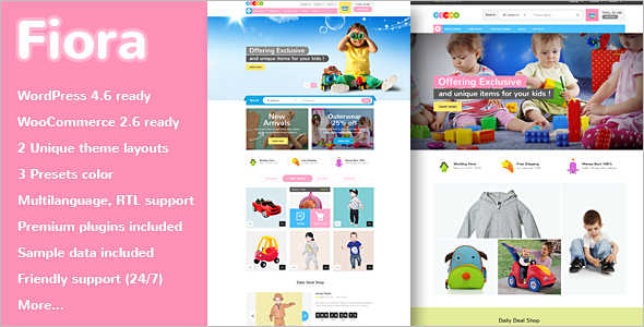 Kids Store Website Template