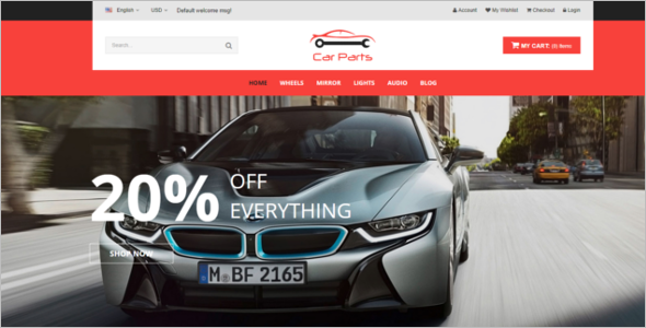 Latest Car Prestashop Theme