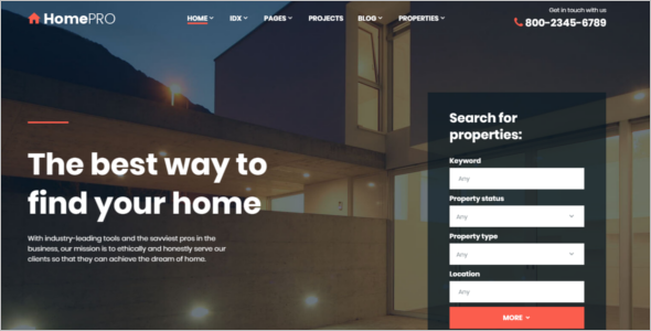 Latest Real Estate Website Template