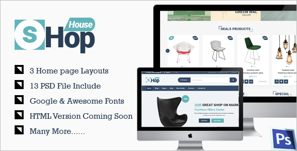 Magento E-commerce PSD Theme