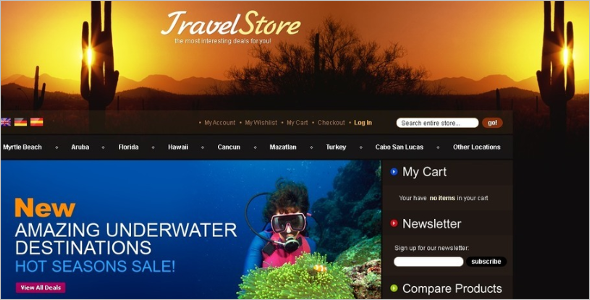 Magento Responsive Travel Theme