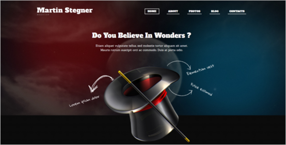 Magician Entertainment WordPress Template