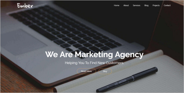 Marketing Bootstrap Blog Template