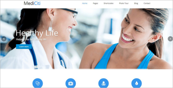 Medical Business Website Template