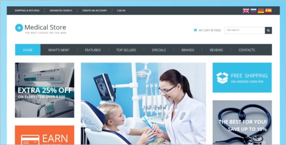 Medical Equipment OsCommerce Template