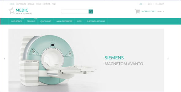 Medical Equipment Zen Cart Template