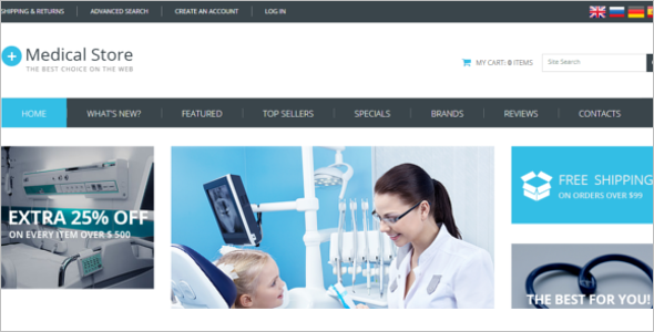 Medical Store OsCommerce Template