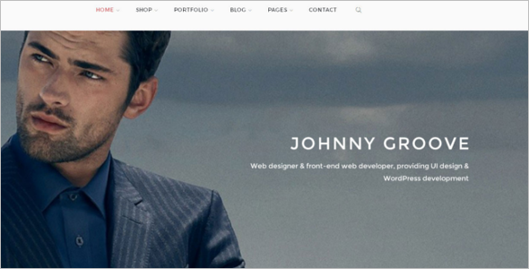 Men's Boutique Website Template