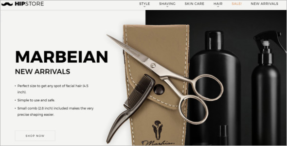 Men's Salon Prestashop Theme