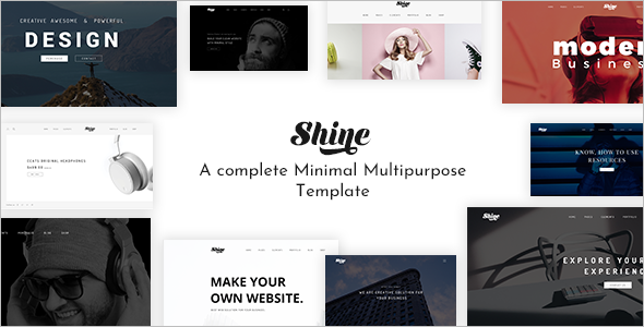 Minimal Company Website Template
