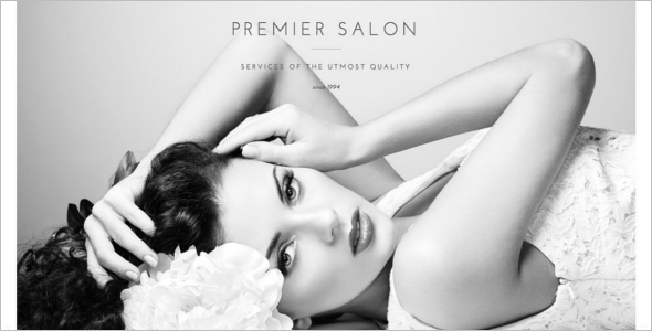 Minimal Hair Salon Website Template
