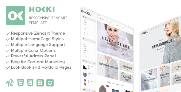 Minimal Mobile Friendly Zencart Template