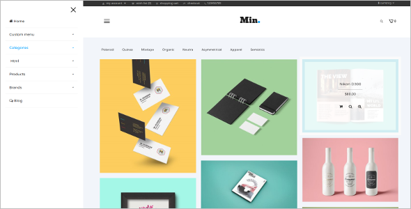 Minimal Photography OpenCart Template