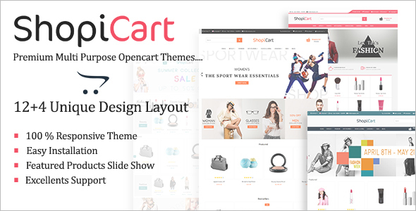 Mobile Friendly OpenCart Shopping Theme