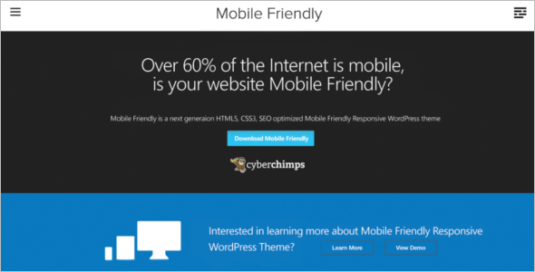 Mobile Friendly WordPress Theme Model