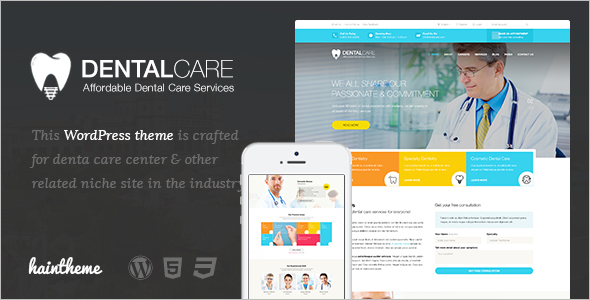 Modern Dental Website Theme