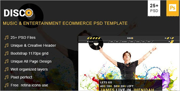 Modern Entertainment Magento Template