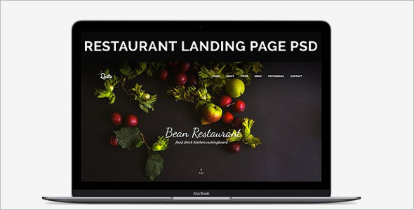 Modern Food Recipes Website Template