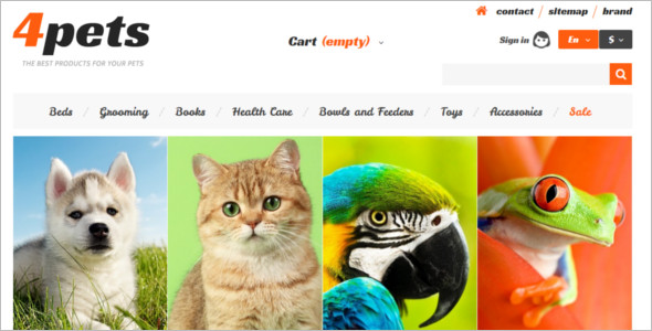 Modern Pet Prestashop Template