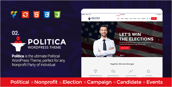 Modern Political Website Theme