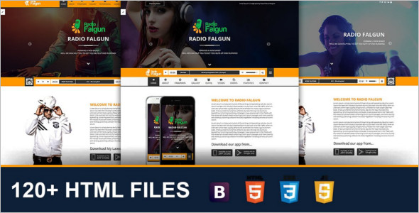 Modern Radio station Website Template