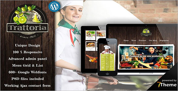 Modern Restaurant Website Theme