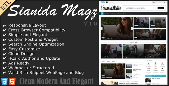 Modern SEO Friendly Blogger Template