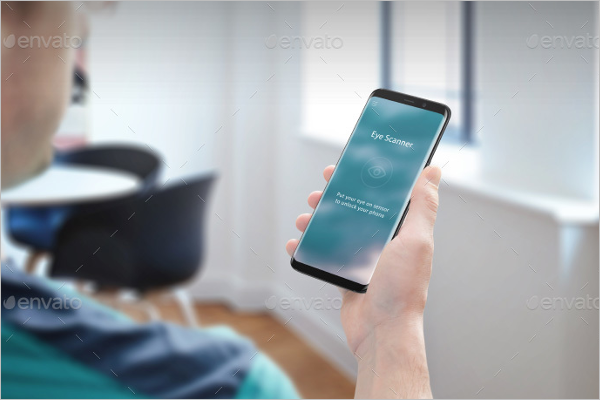 Modern Technology Samsung Mobile Mockup