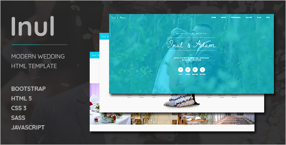 Modern Wedding HTML Template