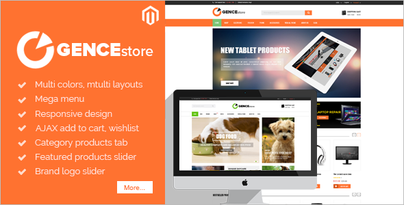 Multi Store Pet store Magento Template