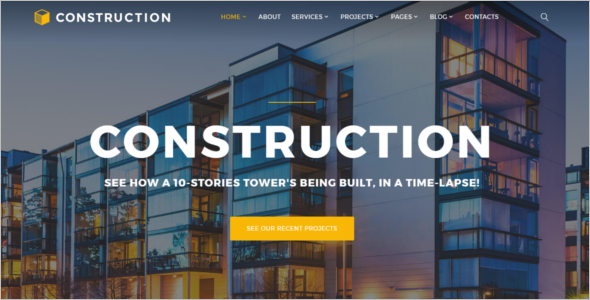 Multipage Construction Website Template