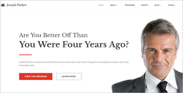 Multipage Political Website Theme