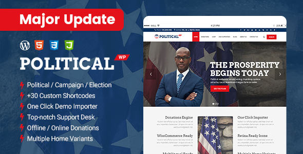 Multipurpose Political Website Theme